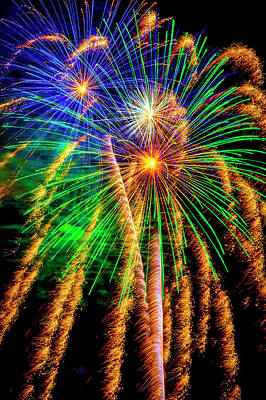 Photograph - Wondrous Fireworks by Garry Gay