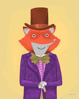Wonka Digital Art - Wonka Fox by Brian White