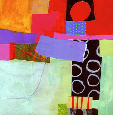 Bright Color Painting - Wonky Grid #19 by Jane Davies