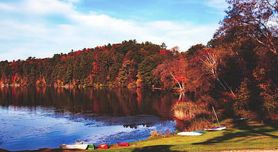 Photograph - Wononskopomuc Lake, Connecticut by Library Of Congress