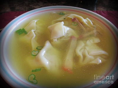 Photograph - Wonton Soup by Kay Novy