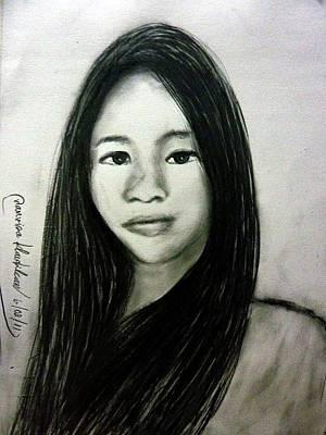 Painting - Woo Doi Kim by Wanvisa Klawklean