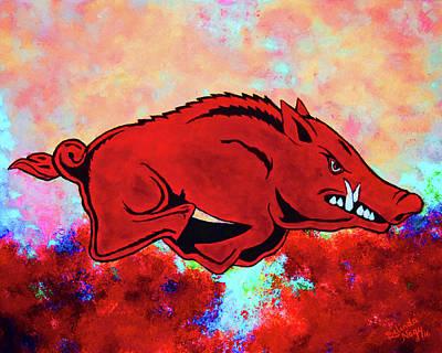University Of Arkansas Digital Art - Woo Pig Sooie 3 by Belinda Nagy