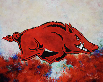 University Of Arkansas Painting - Woo Pig Sooie by Belinda Nagy