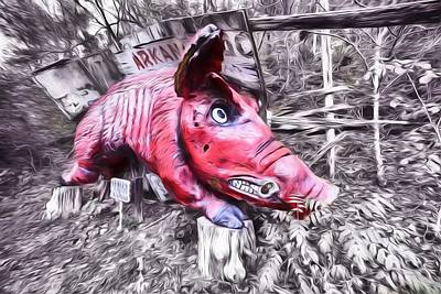 Woo Pig Sooie Digital Print by JC Findley