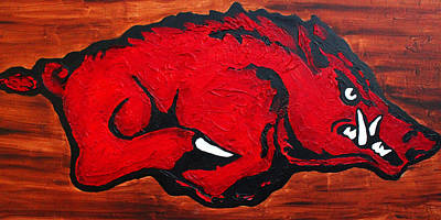 Art Print featuring the painting Woo Pig Sooie by Laura  Grisham