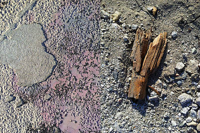 Photograph - Wood And Concrete by Stan  Magnan