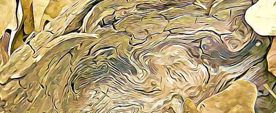 Wall Art - Digital Art - Wood And Leaves by Dene Brock