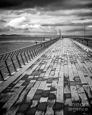 Photograph - Wood And Pier by Perry Webster