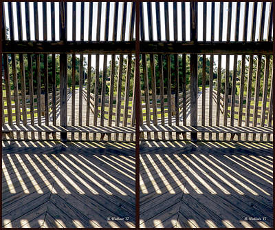 Photograph - Wood And Shadows - 3d Stereo X-view by Brian Wallace