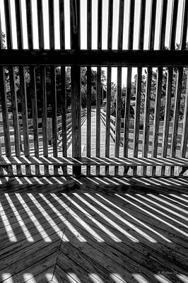 Photograph - Wood And Shadows - Bw by Brian Wallace