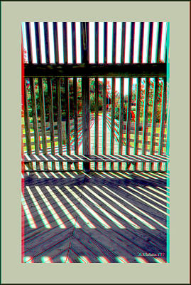 Photograph - Wood And Shadows - Use Red-cyan Filtered 3d Glasses by Brian Wallace