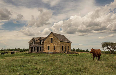 Abandoned Houses Photograph - Wood And Stone House by Chris Harris