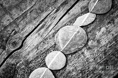 Photograph - Wood And Stones by Delphimages Photo Creations