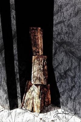 Photograph - Wood And Wall by Joan Reese