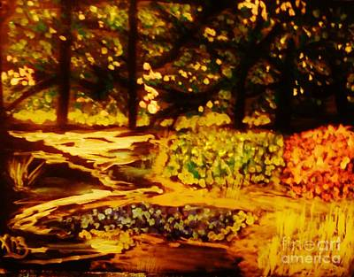Painting - Wood At Night by Marie Bulger