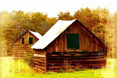 Photograph - Wood Barn by France Laliberte