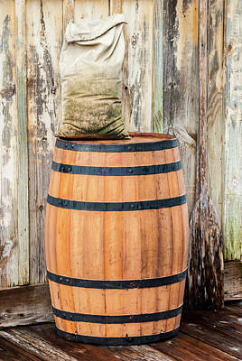 Photograph - Wood Barrel by Pamela Williams