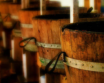 Wine Barrel Photograph - Wood Barrels by Perry Webster