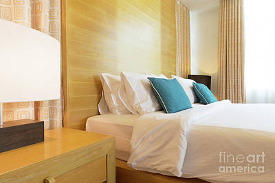 Wood Bed Art Print by Atiketta Sangasaeng