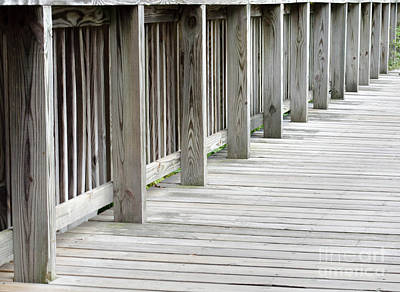 Photograph - Wood Bridge by Andrea Anderegg