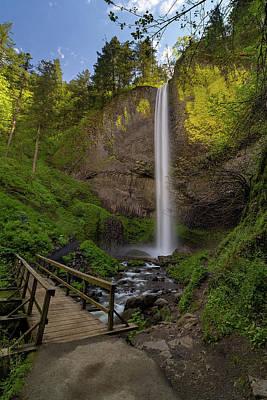 Outdoors Photograph - Wood Bridge At Latourell Falls by David Gn