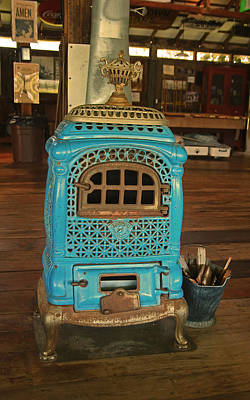 Photograph - Wood Burning Heater by Ronald Olivier