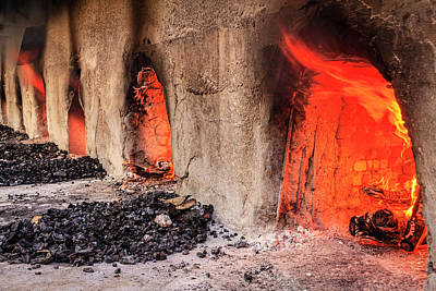 Photograph - Wood Burning Ovens by Alexey Stiop