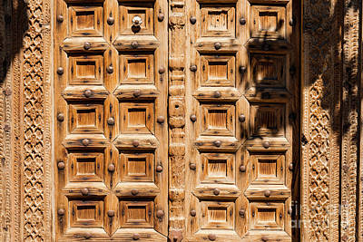 Balat Photograph - Wood Carved Doors by Bob Phillips