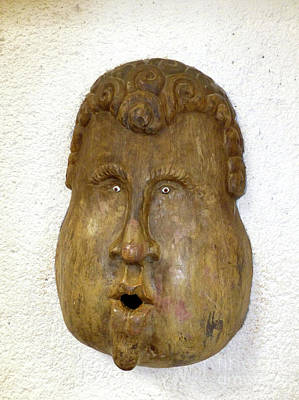 Photograph - Wood Carved Face by Francesca Mackenney