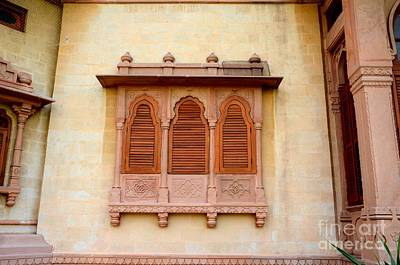 Photograph - Wood Carved Shutters And Ornate Window Mohatta Palace Museum Karachi Sindh Pakistan by Imran Ahmed