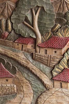Photograph - Wood Carvings At Atolera Yoselin - 2 by Hany J