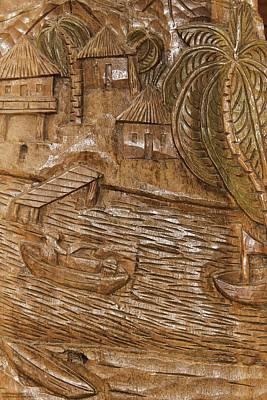 Photograph - Wood Carvings At Atolera Yoselin - 3 by Hany J