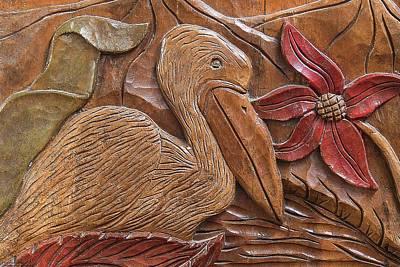 Photograph - Wood Carvings At Atolera Yoselin - 5 by Hany J
