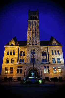 Photograph - Wood County Courthouse by Daniel Houghton