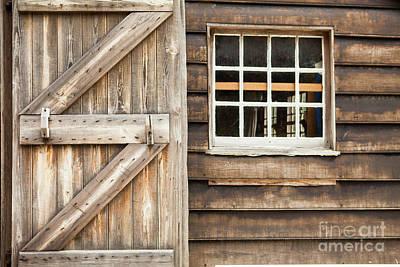 Wood Door And Window Art Print