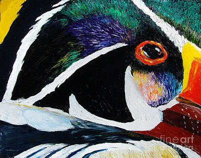 Painting - Wood Duck - Reflections 2 by TD Wilson