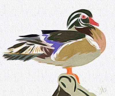 Wood Duck Painting - Wood Duck by Jennifer Buerkle