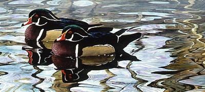 Painting - Wood Ducks by Brian Durfee