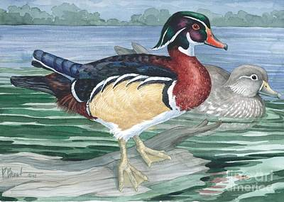 Wetland Painting - Wood Ducks by Paul Brent