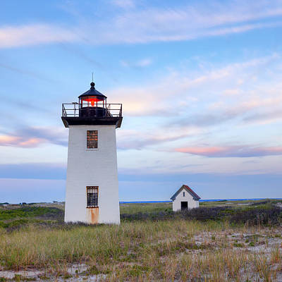 Cape Cod Sunset Photograph - Wood End Light 2015 by Bill Wakeley
