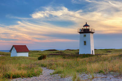 Wood End Light Cape Cod Art Print by Bill Wakeley