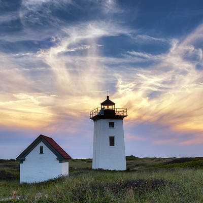 New England Lighthouse Photograph - Wood End Light Square by Bill Wakeley