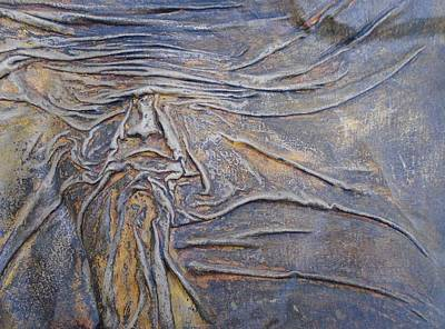 Painting - Wood Face  by Steve  Hester