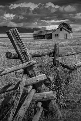 Wood Fence By The Moulton Farm On Mormon Row Art Print