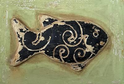 Photograph - Wood Fish 1 by Rob Hans
