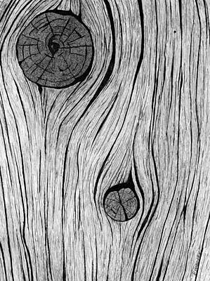 Wood Grain 2 Art Print by Ed Einboden