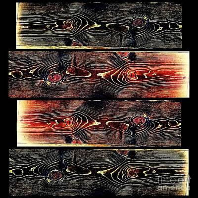 Artist Working Photograph - Wood Grain Collage - Blackened Sunset by Scott D Van Osdol