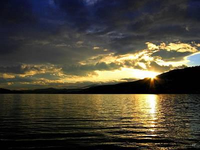 Photograph - Wood Lake Sunburst by Will Borden