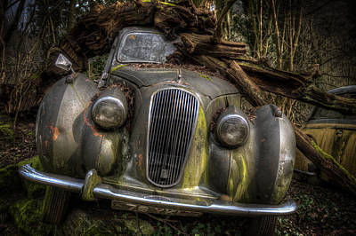 Digital Art - Wood On The Lagonda by Nathan Wright